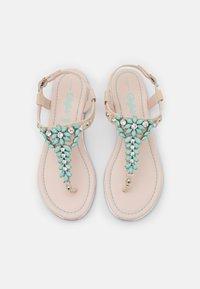 Buffalo - ROSALIE - T-bar sandals - beige/mint - 5