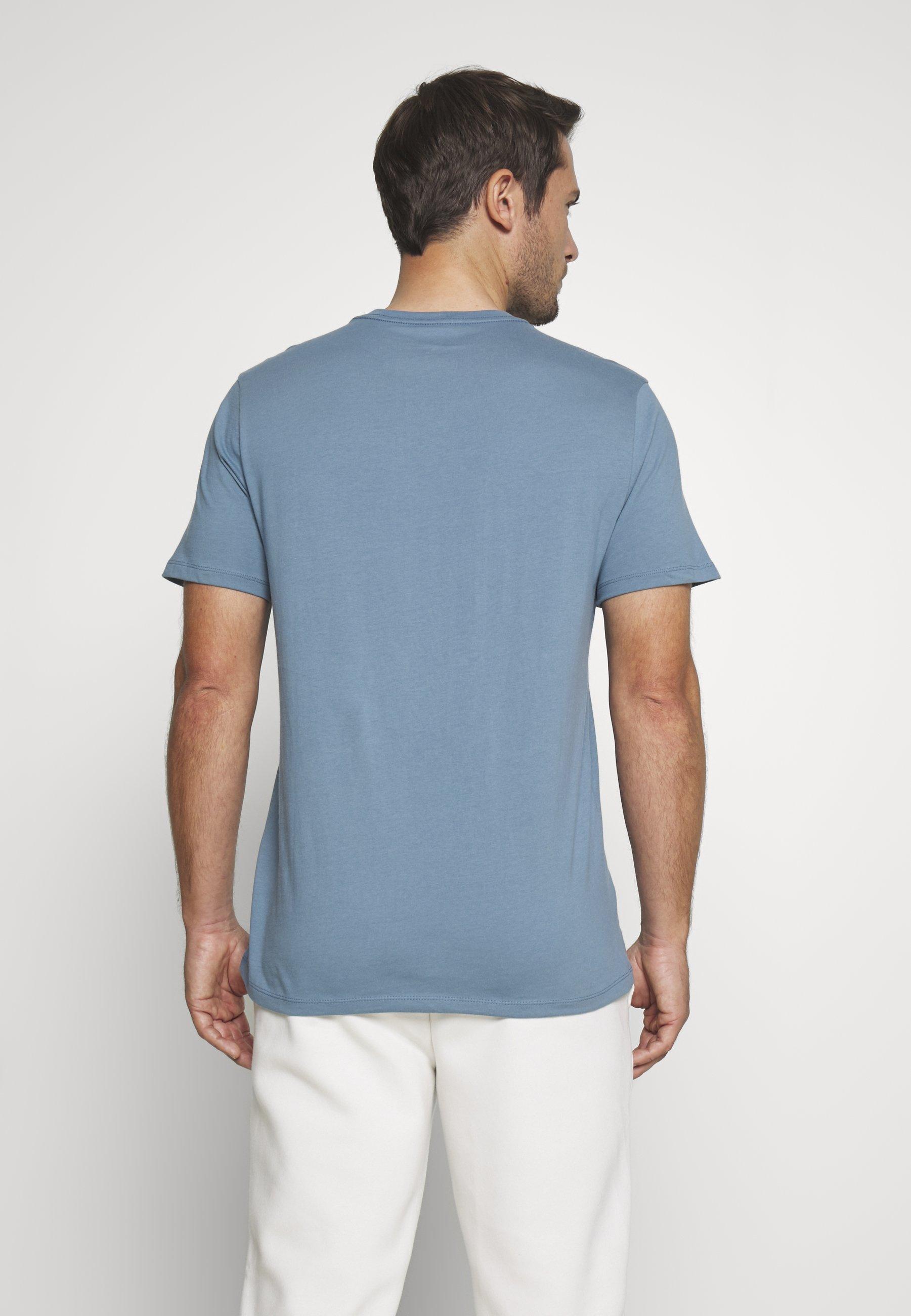 GAP BASIC LOGO - Print T-shirt - pacific PfoCr