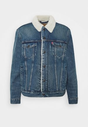Denim jacket - fable sherpa trucker