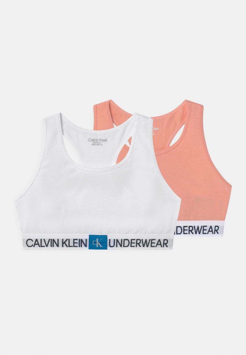 Calvin Klein Underwear - BRALETTE 2 PACK - Bustier - apricot pink/white