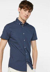 WE Fashion - HERREN-SLIM-FIT-HEMD MIT MUSTER - Shirt - dark blue - 3
