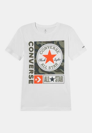 CHUCK PATCH BOXES TEE - T-shirt con stampa - white