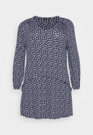 FLORAL SPOT SWING - Tunic - navy