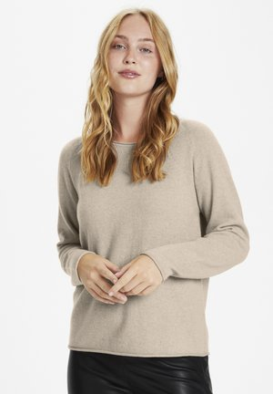 CUALAIA - Pullover - sand melange