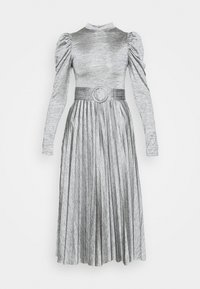 Topshop - PREMIUM MARL PLEATED - Cocktail dress / Party dress - grey - 5