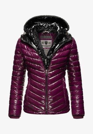 Winter jacket - aubergine/black