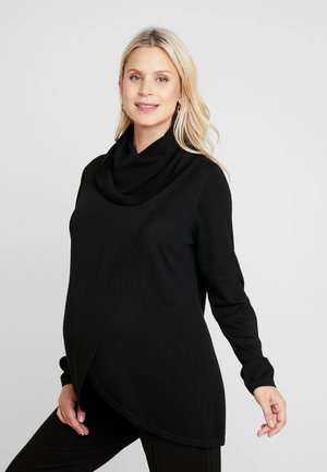 COWL NECK NURSING - Jumper - black