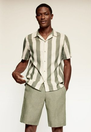 FANNY - Shirt - sand/green