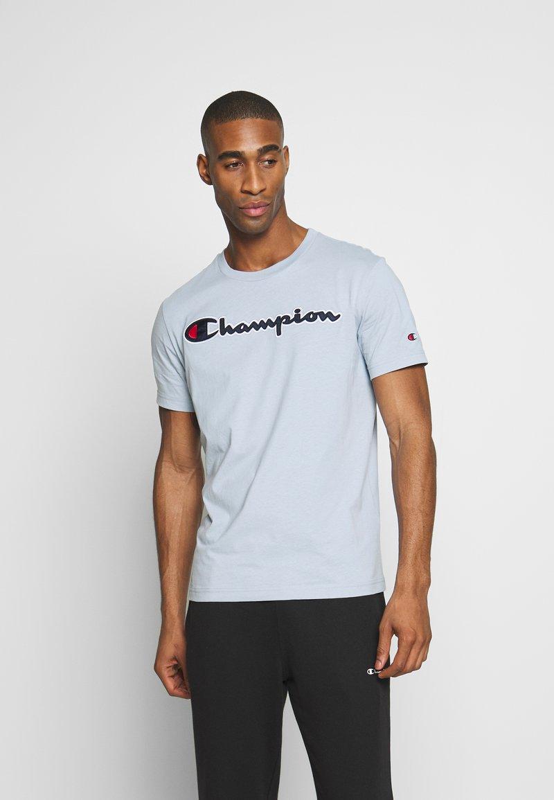 Champion Rochester - ROCHESTER CREWNECK  - Print T-shirt - light blue
