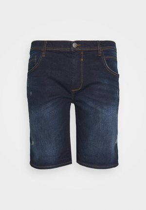 SCRATCHES - Jeans Shorts - denim dark blue