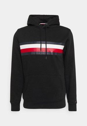 GLOBAL STRIPE HOODY - Sweatshirt - black