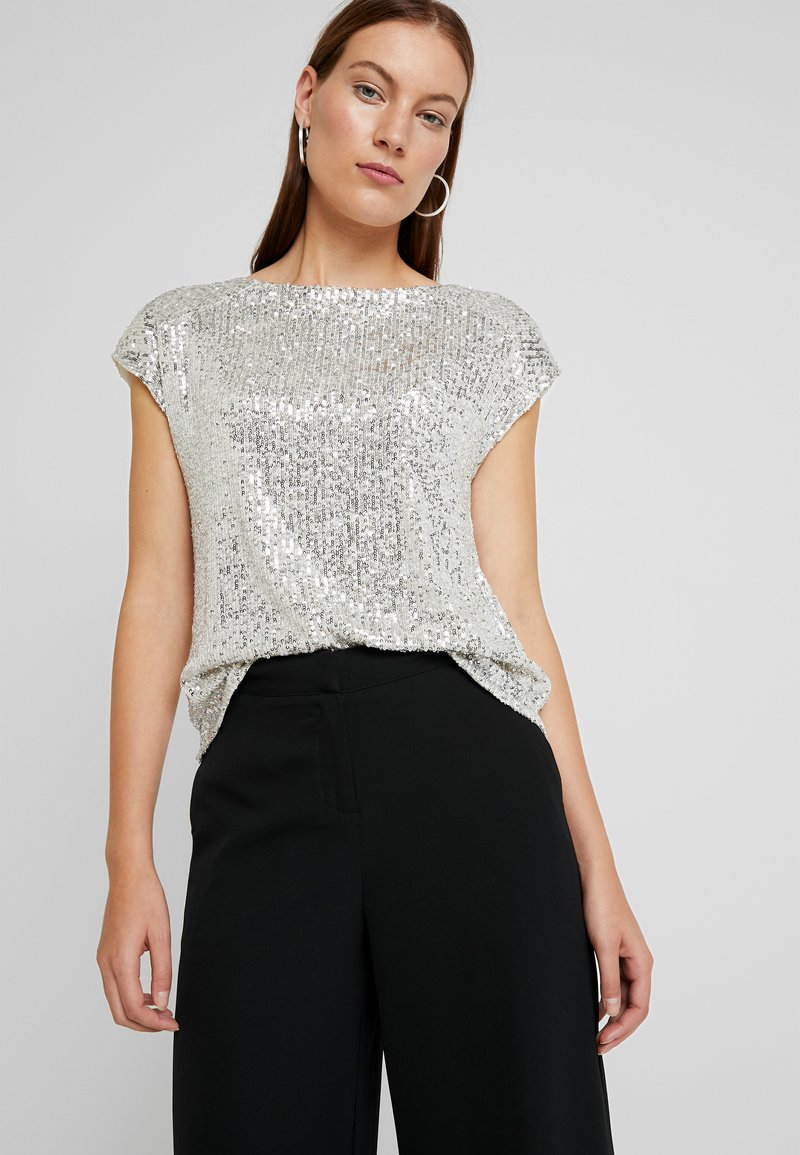 Dorothy Perkins - SEQUIN TEE - Blůza - champagne
