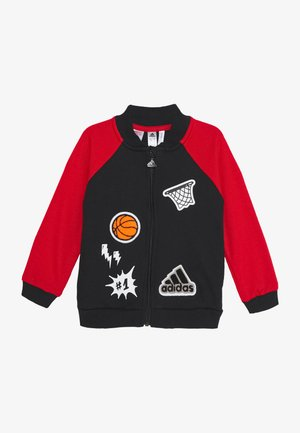 veste en sweat zippée - black/scarlet/white
