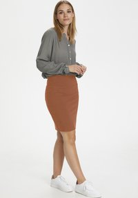 Kaffe - PENNY SKIRT - Pencil skirt - sierra - 0