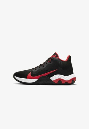RENEW ELEVATE - Basketball shoes - black/university red-white