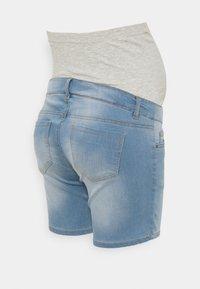 MAMALICIOUS - MLFIFTY - Denim shorts - light blue denim - 1