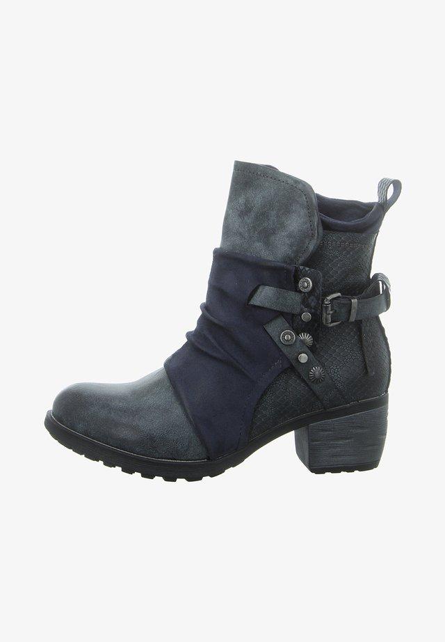 Cowboy/biker ankle boot - blue