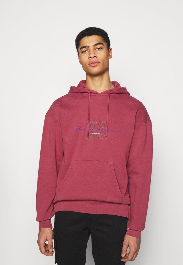 BULKY HOODIE - Sweater - faded dark red