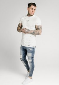 SIKSILK - LOW RISE FUSION - Jeans Skinny Fit - midstone - 1
