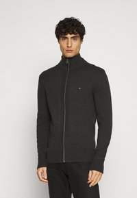 Tommy Hilfiger - CHUNKY ZIP THROUGH - Cardigan - grey - 0
