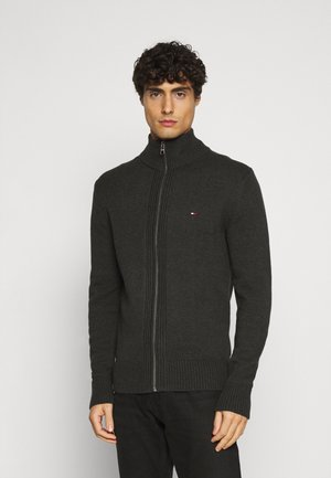 CHUNKY ZIP THROUGH - Cardigan - grey