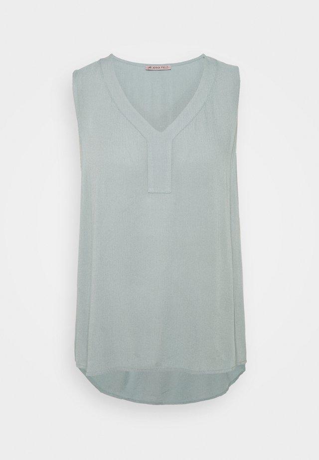 V Neck top - Bluse - dark blue