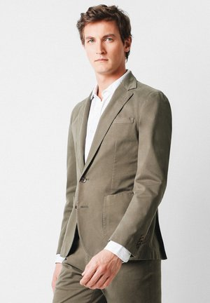 SLIM FIT  - Blazer jacket - khaki