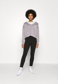 Even&Odd - High Waisted Punto Trousers with pockets - Trousers - black - 1