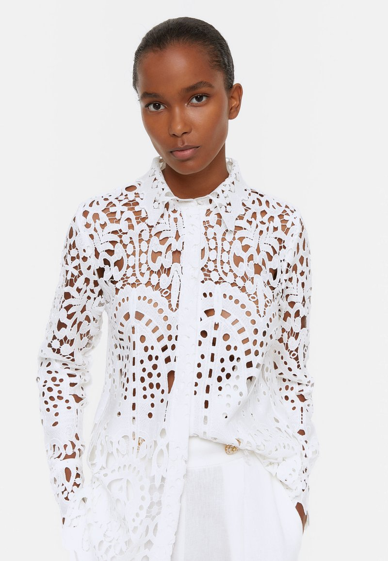 Uterqüe - Button-down blouse - white