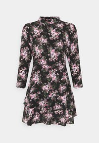 Dorothy Perkins Petite - MINI TIERRED HIGH NECK DRESS - Day dress - pink - 0
