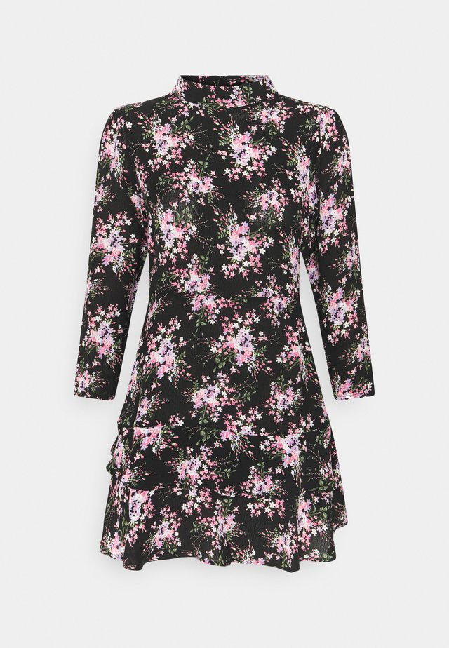 MINI TIERRED HIGH NECK DRESS - Robe d'été - pink