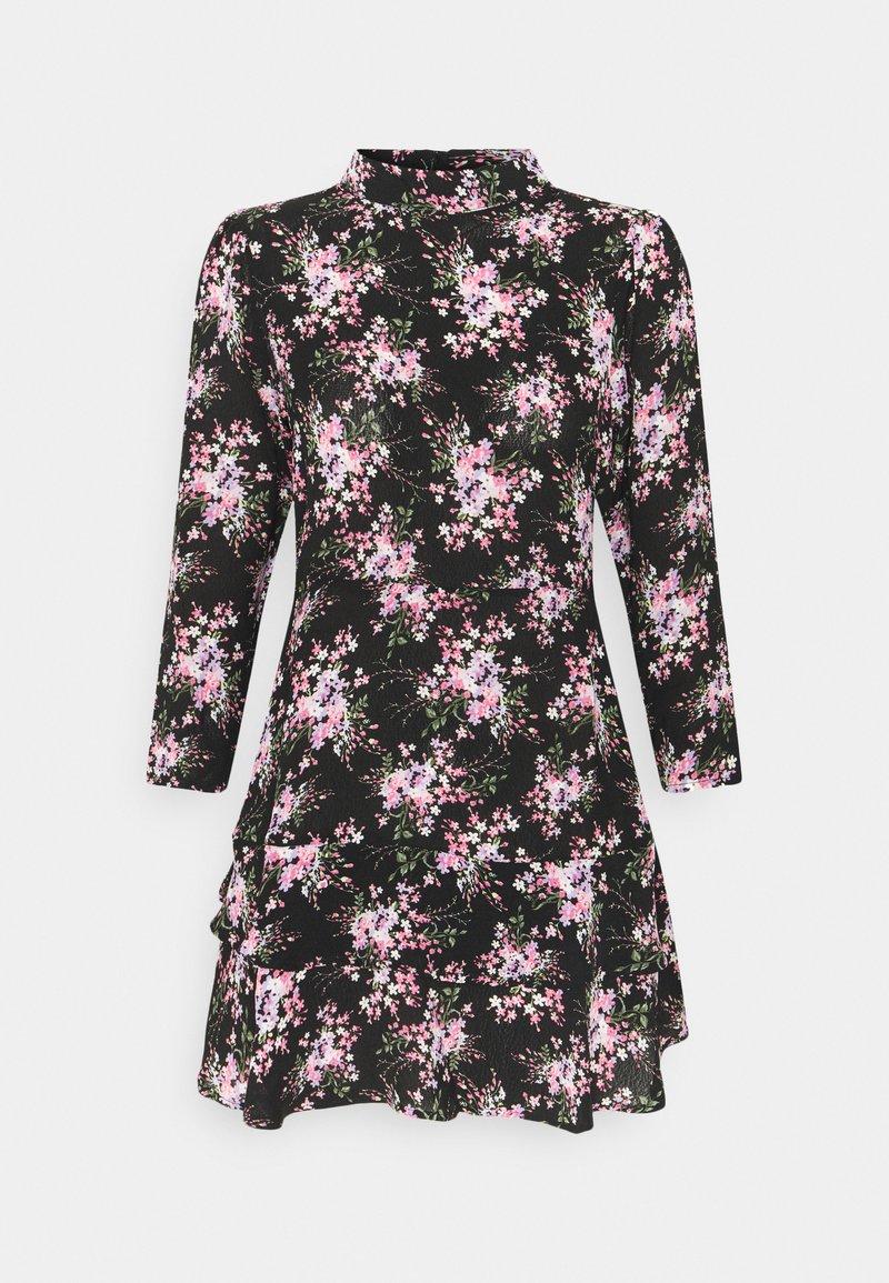 Dorothy Perkins Petite - MINI TIERRED HIGH NECK DRESS - Day dress - pink