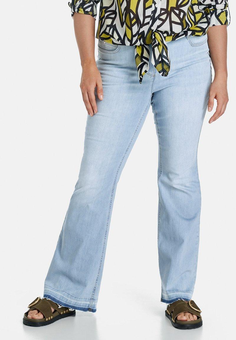 Samoon - Bootcut jeans - light blue denim