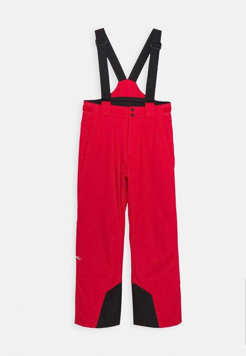 Kjus - BOYS VECTOR PANTS - Zimní kalhoty - scarlet