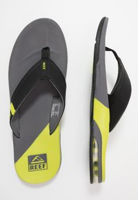 Reef - FANNING LOW - T-bar sandals - grey/lime - 1