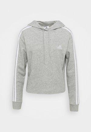 Hoodie - medium grey heather/white