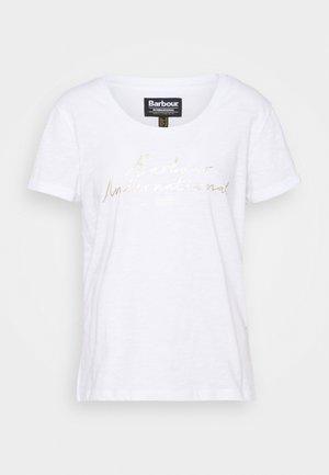 HALLSTATT TEE - Print T-shirt - white