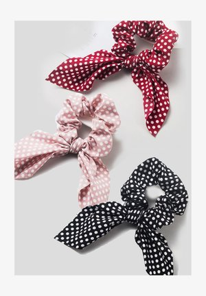 3 PACK - Hair Styling Accessory - red/rose/black