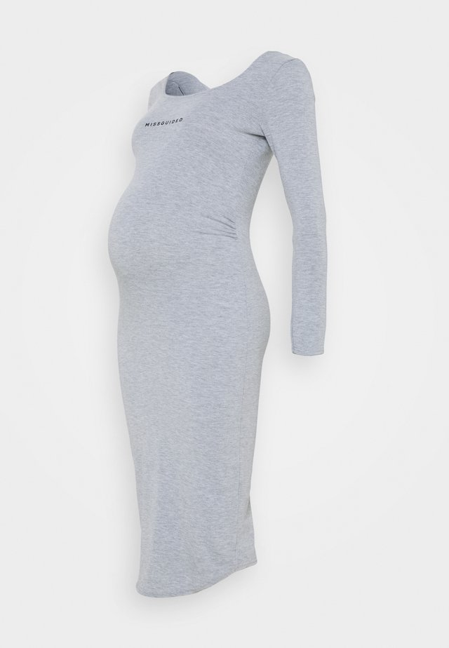 LONG SLEEVE DRESS - Žerzejové šaty - grey marl