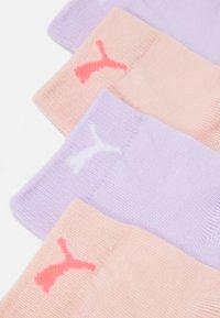 Puma - WOMEN QUARTER 4 PACK - Socks - neon pink/purple - 1