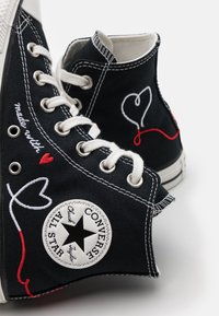 Converse - CHUCK TAYLOR ALL STAR UNISEX - High-top trainers - black/vintage white/egret - 5