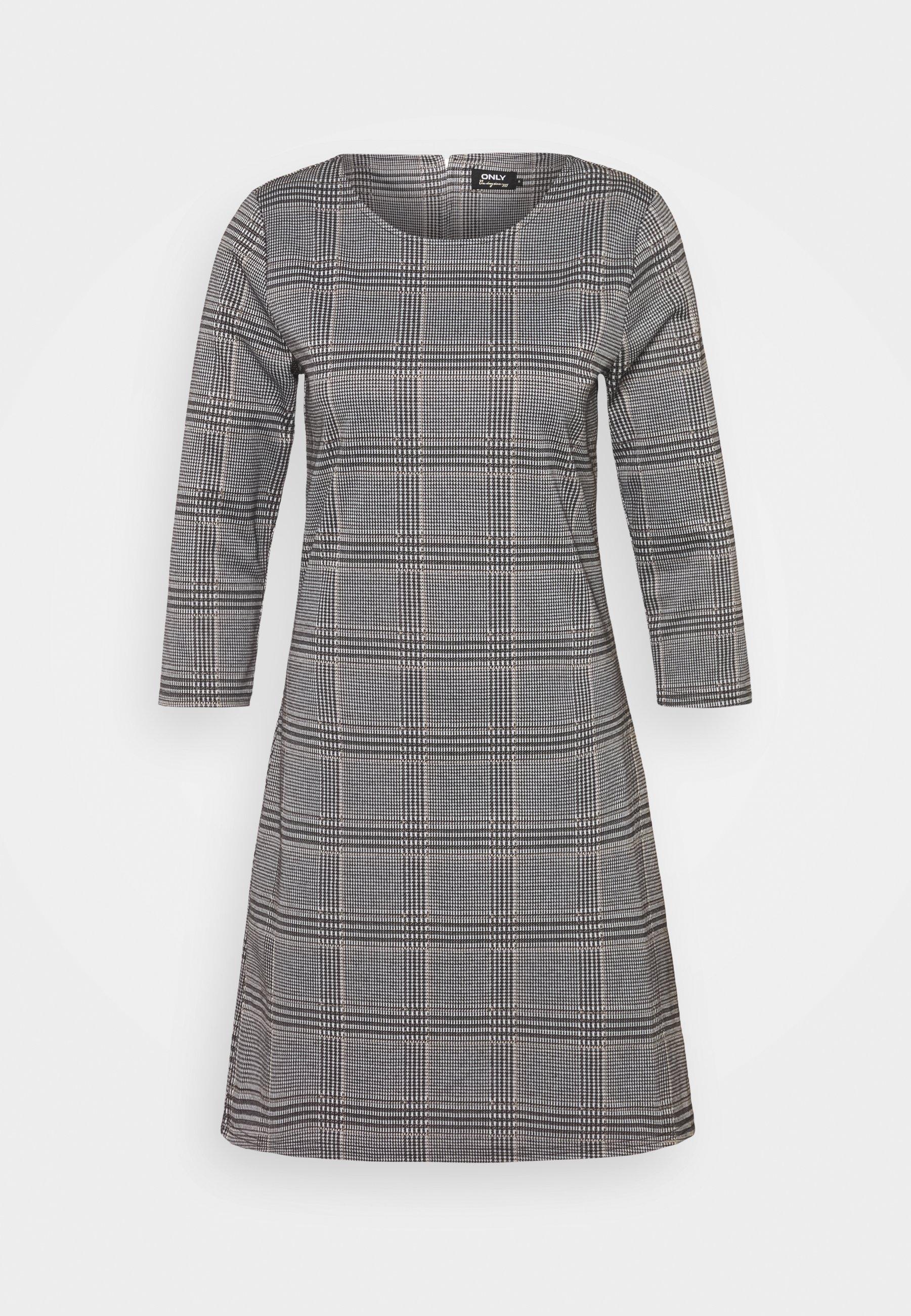 Women ONLBRILLIANT CHECK DRESS - Jersey dress