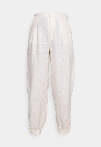 BALLOON LEG PANTS - Pantalones - light beige