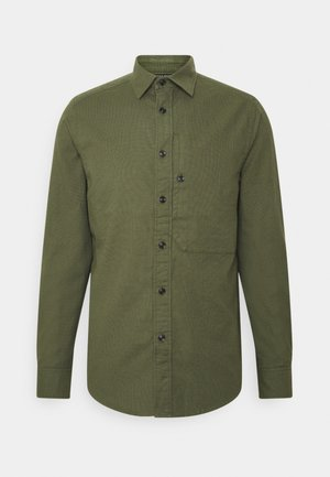 STALT REGULAR PATCH - Vapaa-ajan kauluspaita - break oxford-sage/asfalt oxford