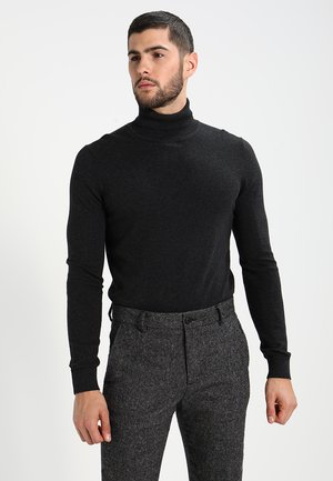 Strickpullover - mottled dark grey