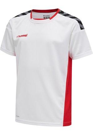 Print T-shirt - white/true red