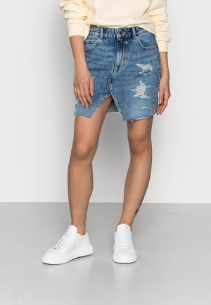 ONLISABEL LIFE  - Mini skirt - medium blue denim