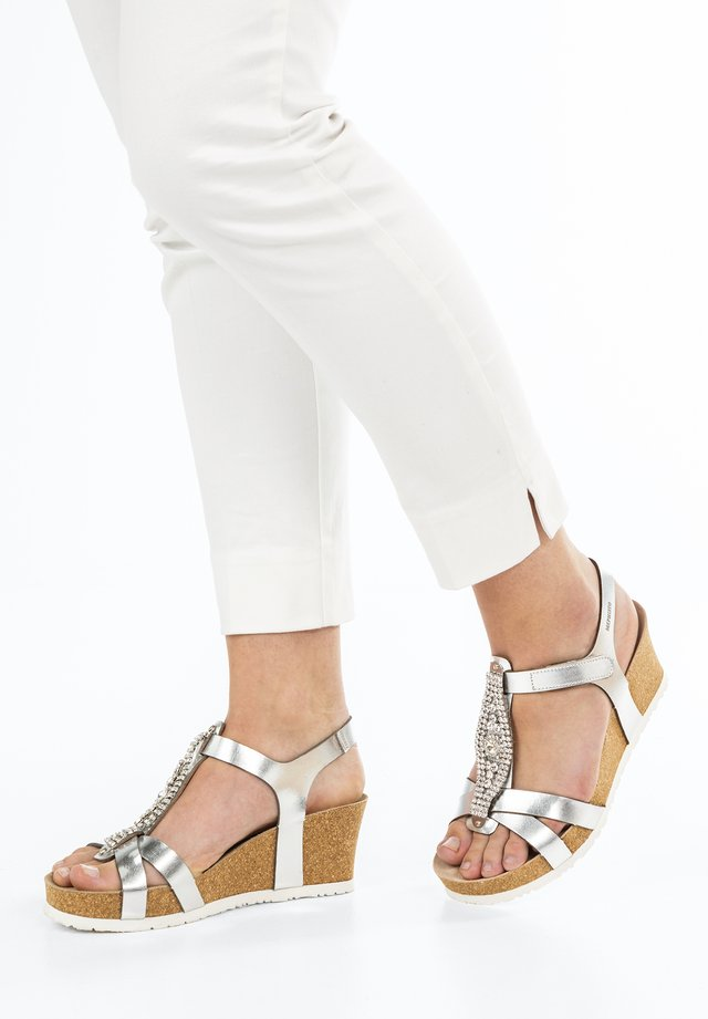 LIO SPARK - Platform sandals - nickel