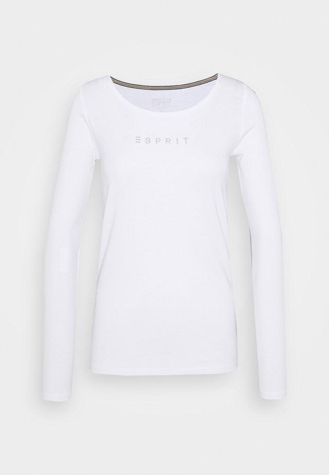 CORE - Bluzka z długim rękawem - white