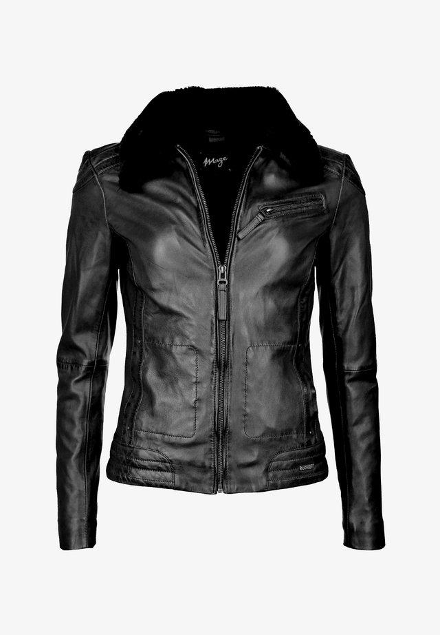 MORELIA - Leather jacket - black